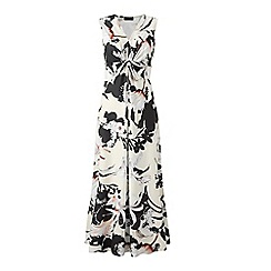 Grace - Cream floral maxi dress