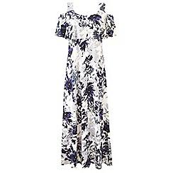 Grace - Purple cold shoulder maxi dress