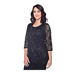 Grace - Black sequin lace tunic