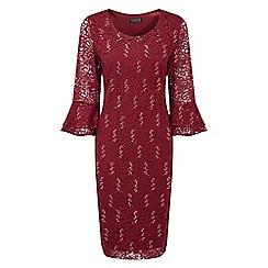 Grace - Berry sequin lace midi dress