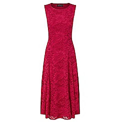 Grace - Red lace midaxi dress