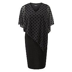 Grace - Black glitter dress with burnout overlay