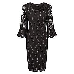 Grace - Black sequin lace midi dress