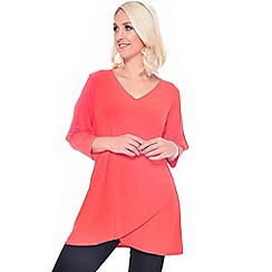 Grace - Orange tulip hem tunic top