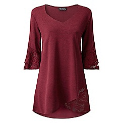Grace - Berry tunic top with lace detail