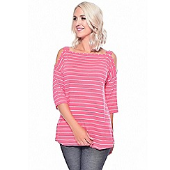 Grace - Pink cold shoulder tunic