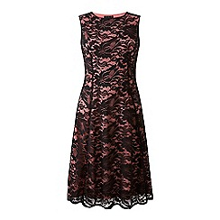 Grace - Black lace skater dress