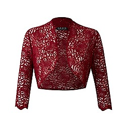 Grace - Berry sequin lace bolero