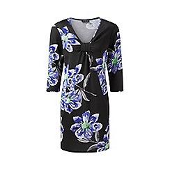 Grace - Black floral tunic dress