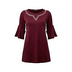 Grace - Berry tunic with studs