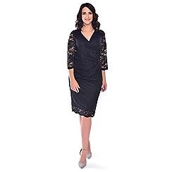 Grace - Black lace midi dress
