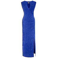 Grace - Blue glitter maxi dress