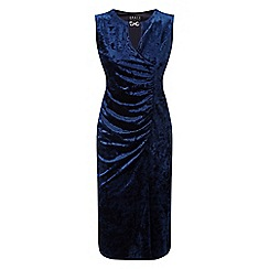 Grace - Navy velour midi dress