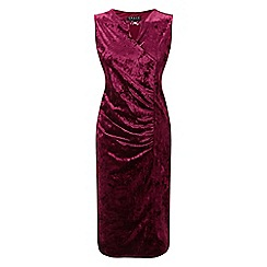 Grace - Berry velour midi dress