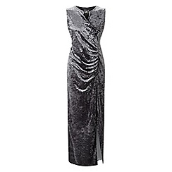Grace - Silver velour maxi dress