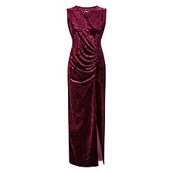 Grace - Berry velour maxi dress