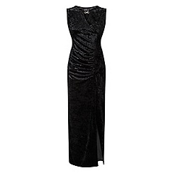 Grace - Black velour maxi dress