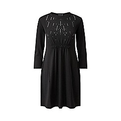 Grace - Black tunic dress with studs