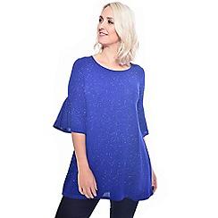 Grace - Blue glitter tunic top