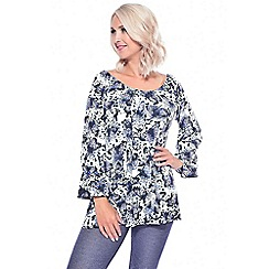 Grace - White butterfly tunic