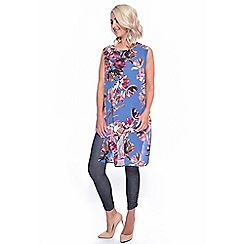 Grace - Blue chiffon tunic