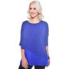 Grace - Blue glitter overlay tunic