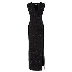 Grace - Black glitter maxi dress