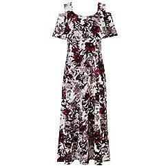 Grace - Multicoloured cold shoulder maxi dress