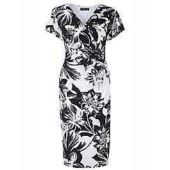 Grace - Black floral maxi dress
