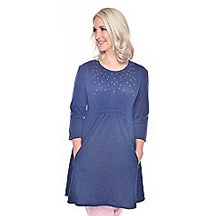 Grace - Navy tunic dress
