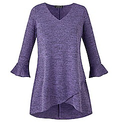 Grace - Lilac tunic with frill cuff