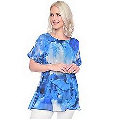 Grace - Blue chiffon tunic