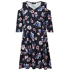Grace - Cold shoulder midi dress