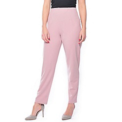 Grace - Pink petite tapered trousers