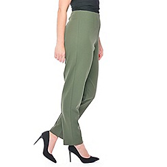Grace - Khaki regular fit trousers