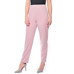 Grace - Pink regular tapered trousers