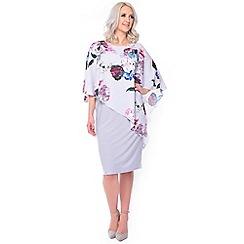 Grace - Lilac overlay midi dress