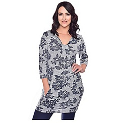Grace - Grey tunic dress with inserted pockets
