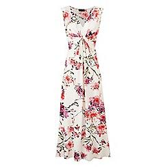 Grace - White floral maxi dress