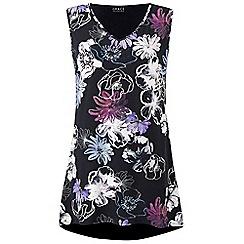 Grace - Purple floral tunic