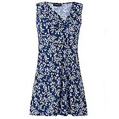 Grace - Blue floral tunic