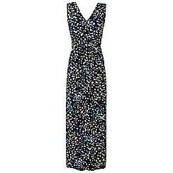 Grace - Green floral maxi dress