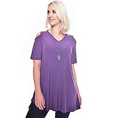 Grace - Purple tunic with necklace