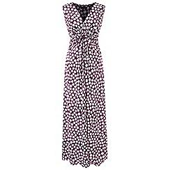 Grace - Violet spot maxi dress