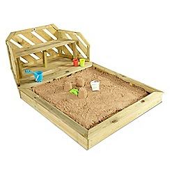 Plum - Wooden sand pit and bench