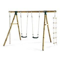 Plum - Gibbon wooden swing set