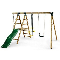 Plum - Meerkat wooden swing set