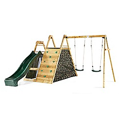 Plum - Wooden climbing pyramid with swings