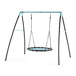 Plum - Premium metal nest swing with mist