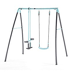 Plum - Premium metal single swing and glider with mist